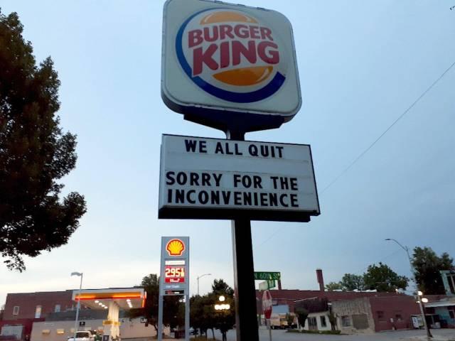 burger king resignation quit